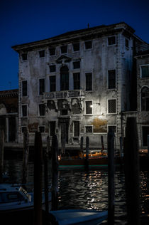 Canal Grande bei Nacht by Daniel Mittermeier