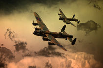 Lancaster Fire In The Sky by James Biggadike