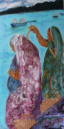2 Frauen am Ganges von Mehlika Tanriverdi