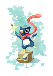 Party Penguin von freeminds