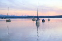 Lake ammersee, on a summer evening by Eva Stadler