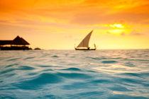 Golden dhoni sunset von Sean Davey