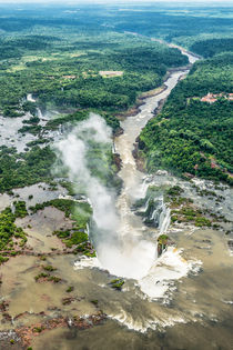 Birds Eye View of Iguazu Falls # 2 by Russell Bevan Photography
