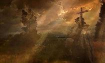 Das Kreuz im Gebirge. Frei nach Caspar David Friedrich. von Marie Luise Strohmenger