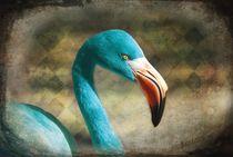 Blue Flamingo by barbara orenya