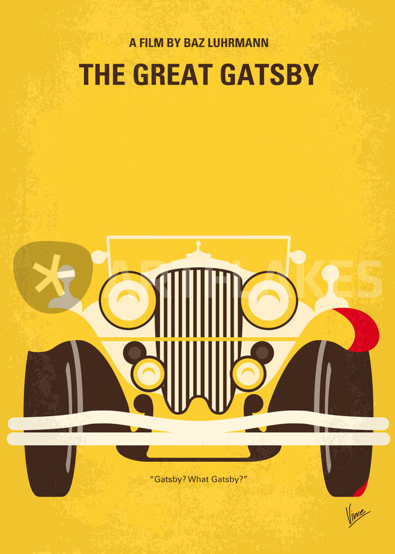 No206 My The Great Gatsby Minimal Movie Poster Graphicillustration