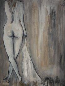 Frau mit Tuch von Christine Lamade