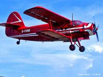 Doppeldecker, Oldtimer-Flugzeug, Luftfahrt von shark24