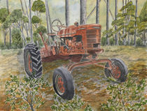 old antique farm tractor by Derek McCrea