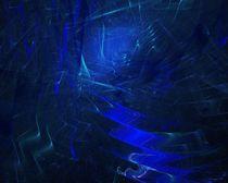blue corridor von Wolfgang Schweizer