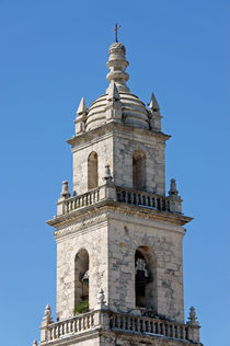 Merida Cathedral Bell Tower by John Mitchell