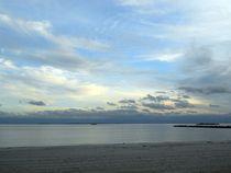 ocean beach at sunset von Wolfgang Schweizer
