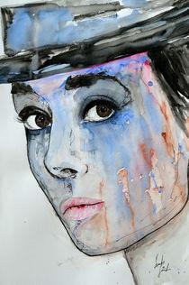 Audrey Hepburn - Abstrakt von Ismeta  Gruenwald