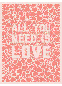 Poster All you need is love von Tiago Augusto
