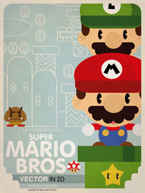 Mario vector in 2D fan art by daniel torres