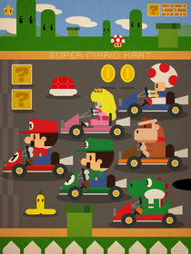 Mario Kart 2D fan art by daniel torres