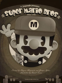 mario bros retro fan art von daniel torres