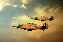 6 Squadron Hurricanes by James Biggadike