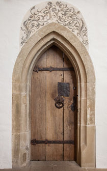 Door in a church in Besigheim by safaribears