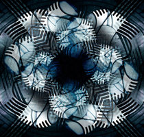Swarf Arrangement Blue by florin