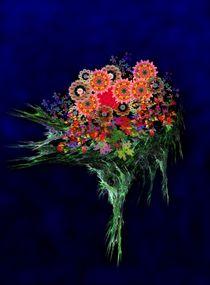Kaleidoskop-Blüten an Apophysis-Strauß by Ingrid Eichhorst