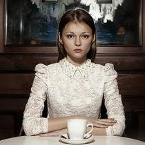 In a cafe by Vladimir Serov