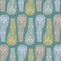 Egyptian Doodle Girl Pattern (Fills) by Tasha Goddard