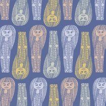 Egyptian Doodle Girl Pattern (Fills) by Tasha Goddard