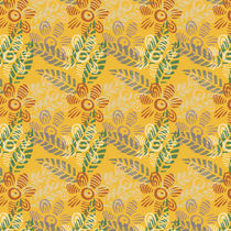 Overlayed Flowers and Leaves Pattern by Tasha Goddard