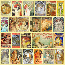 Art Nouveau Advertisement Collection von vintage