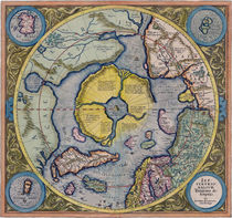 North Pole Map 1595 by vintage