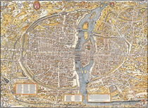 'Paris Map 1550' by vintage