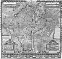 Paris Map 1652 by vintage