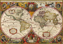 World Map 1630 by vintage