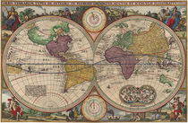 World Map 1657 by vintage
