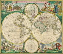 World Map 1670 by vintage