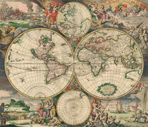 World Map 1671 by vintage