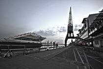 HDR Dockland in schwarz/ weiß by Marten Bornhöft