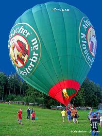 Heissluftballon vor dem Start von shark24