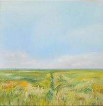 Pilsum - Landschaft vor dem Deich 2 von Michael Kletschke