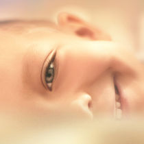 smiling boy by Vladimir Serov