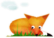 Sleepy Little Fox von Sybille Sterk