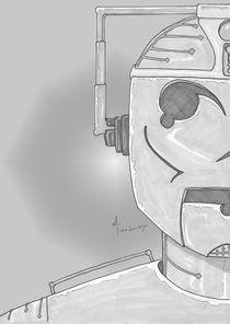 Cyber Half-Portrait Greyscale by Antony McGarry-Thickitt