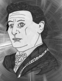 Sylvester McCoy Portrait - Greyscale von Antony McGarry-Thickitt