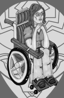 The Thoughtful Oracle - Greyscale von Antony McGarry-Thickitt