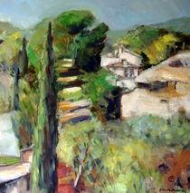 Landschaft in der Provence von Ellen Fasthuber-Huemer