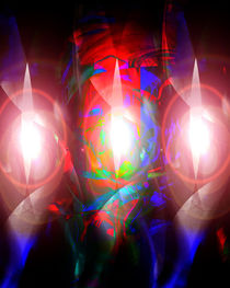 Three Abstract Lights In Night by Boi K' BOI