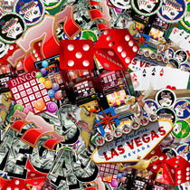 Las Vegas Icons Background  von gravityx9