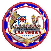 Las Vegas Sign & Icons Poker Chip von gravityx9
