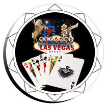 Las Vegas Sign & Two Kings Poker Chip  von gravityx9